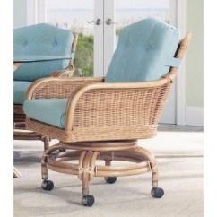 Caster Dining Chairs Copenhagen Classic Rattan Bodega Swivel Tilt Chair