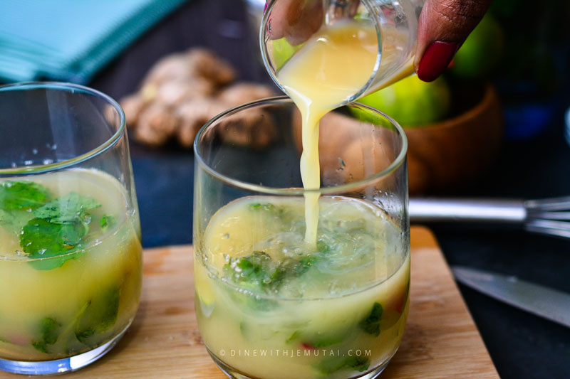 Chilli-Ginger-Mojito with ginger shot