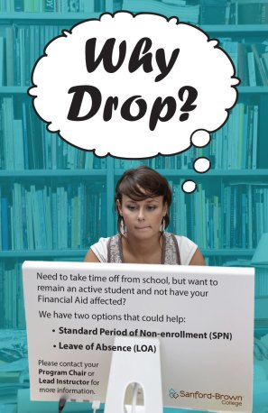 Why Drop Poster   Sanford-Brown College