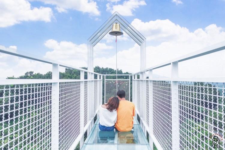 台南玉井景點 隱藏在山林預約制「魔法森林景觀咖啡小餐館」,純白色玻璃天空步道,美到不行的景觀餐廳。