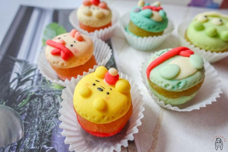台南甜點 可愛度爆表馬卡龍造型鳳梨酥,「富貴馬」可客製手作甜點,不定時開單販售,也有甜點教學課程喔!想當婚禮小物非常適合~