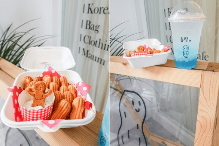 台南下午茶 Maum cafe마음카페,歐爸經營的小咖啡館,讓人捨不得吃的韓國花生鬆餅,還有可客製寫上韓文的飲料喔~