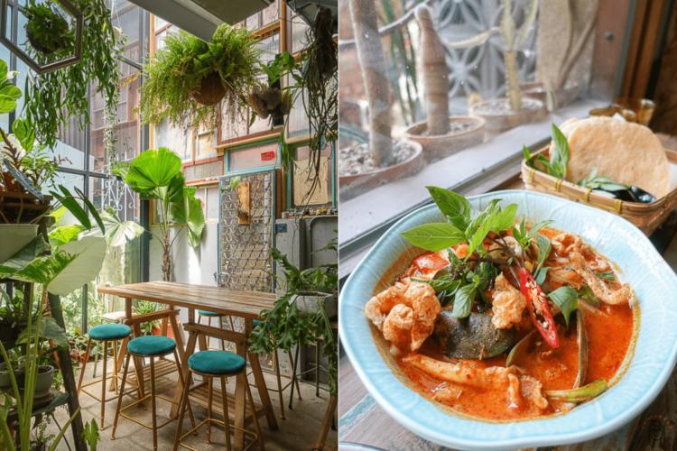 台南中西區泰式料理 植感大叔的日常,一週僅營業三天,預約制泰式料理,可享受被植栽、花包圍的用餐空間。