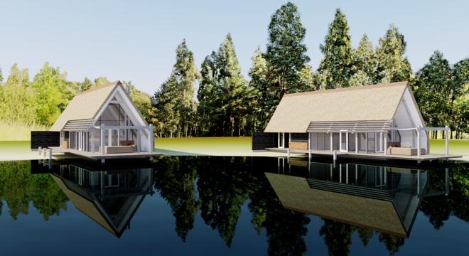 exclusieve vakantie villa met rieten dak