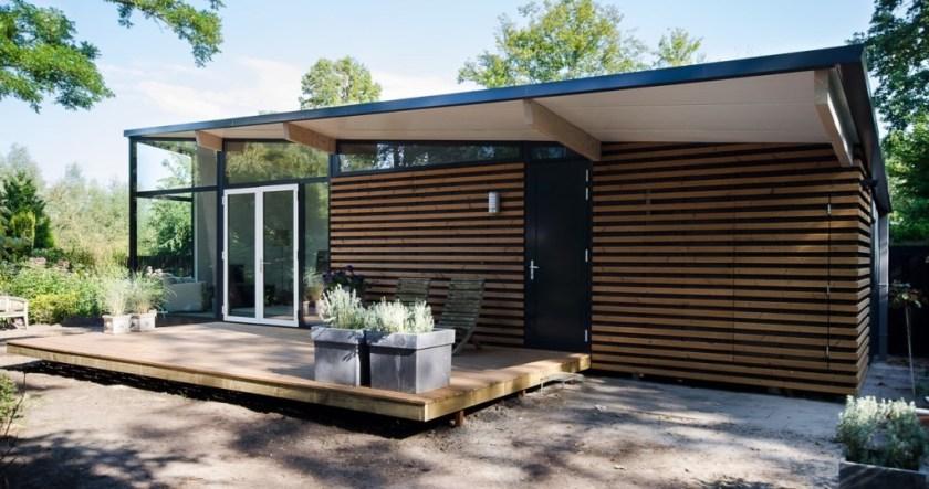 prefab vakantiewoning recreatiewoning modern guesthouse betonnen vloer luifel veranda