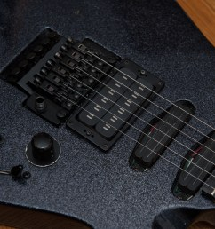 proaxe deluxe closeup showing floyd rose pro and seymour duncan pickups [ 2400 x 1597 Pixel ]