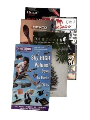 Example of slim-jim catalogs