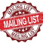 Mailing list stamp