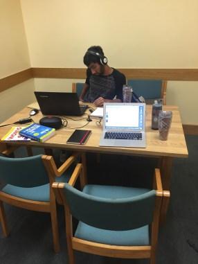 Abb Kapoor, COO, hard at work