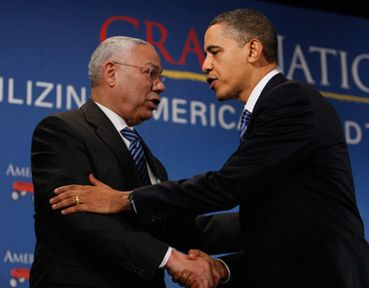 colin powell is not yet sold in Barack obama