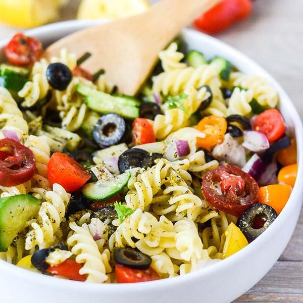 Italian Pasta Salad from Healthier Steps