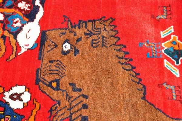 Qashqai Tribal Lion Rug Q0110