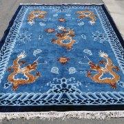 Chinese Silk Dragon Rug -- C0021