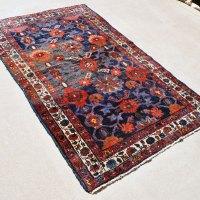 Kurdish Antique Rug with Flowers