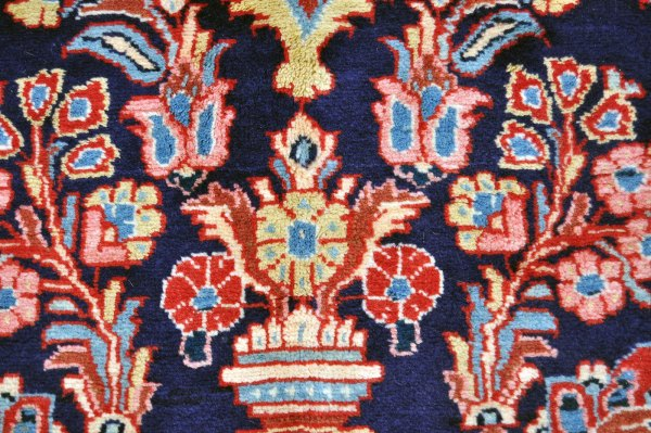 Persian Sarouk Navy Blue Rug
