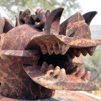 Senufo mask chameleons