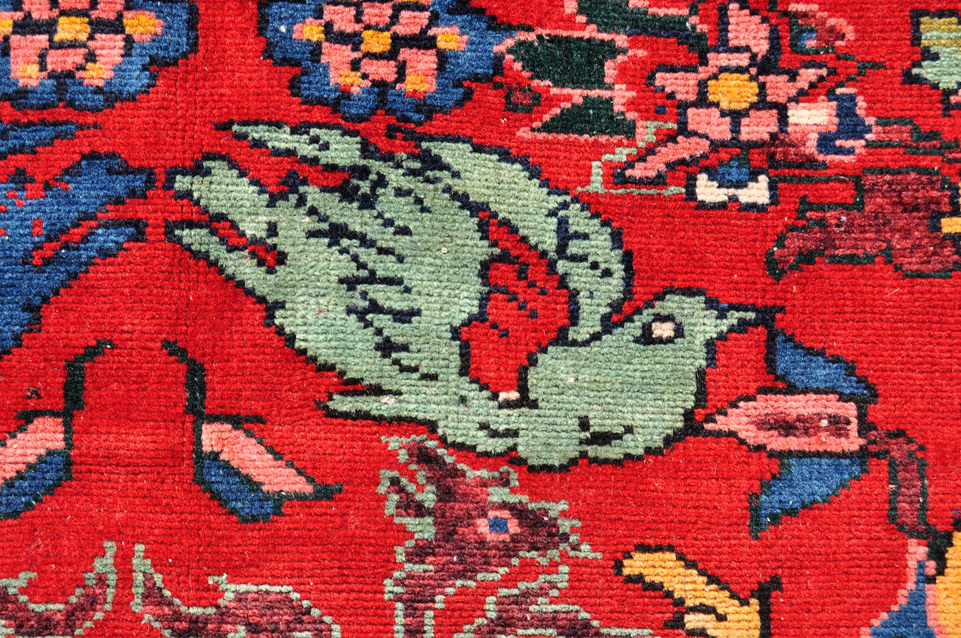 Large Persian Tribal Bird Rug 9 Ft 6 In By 6 Ft 10 In Dingo