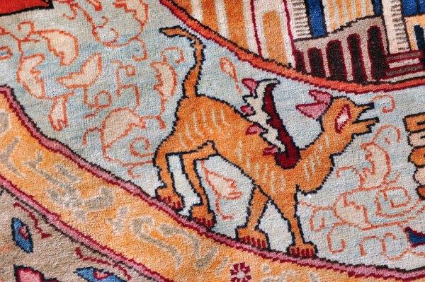 Large Persian Kashmar Carpet