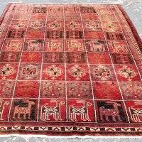 Iran Village Rug with Box Motif