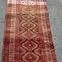 Amazing old Baluch Abrash Runner