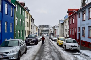 Iceland City Houses Colors