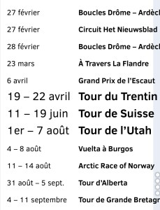 Le cyclisme en 2017 sur la chaîne l'Equipe - TNT