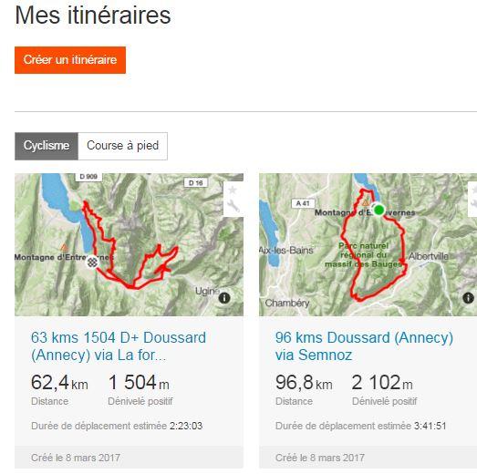 Mode d'emploi STRAVA - Itinéraires au départ d'Annecy