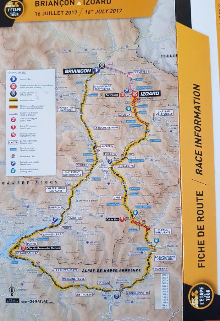Etape du Tour 2017 - La parcours Briançon Izoard 182 kms