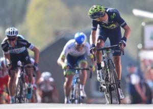 Valverde mur de Huy 2015 - savoir se faire mal ...