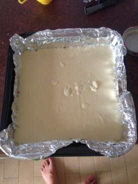 Cheesecake layer - pre-baking!