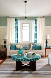 turquoise living room accents decorate decor colors light curtain teal accent rooms walls brown curtains decorating dark adds livingroom furniture