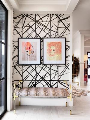 living amazing visual wall modern painting eclectic wearstler spin gives kelly decor