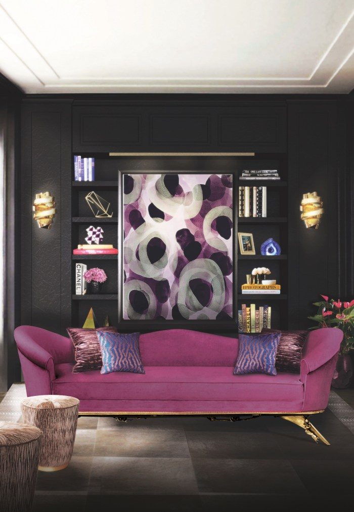 8 Different Ways to use Colorful Sofas in your Living Room Colorful Sofas in your Living Room 8 Different Ways to use Colorful Sofas in your Living Room colette sofa tresor stool chloe sconce blackcobra rug koket projects
