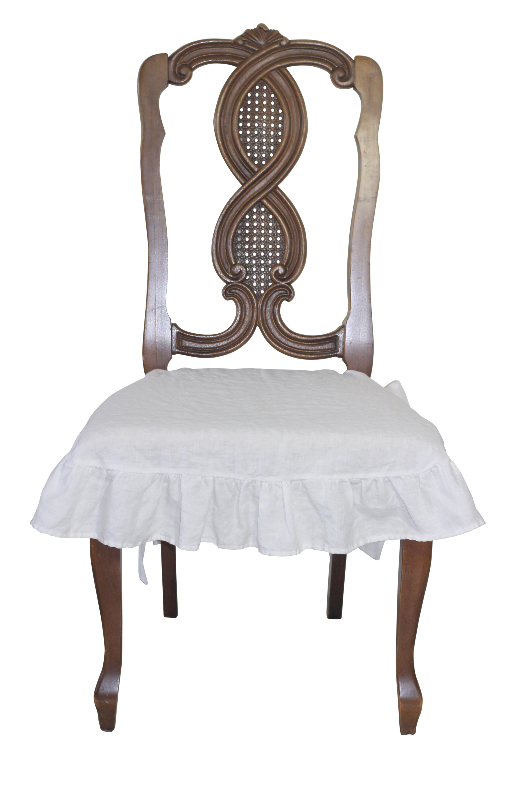 Linen Dining Chair Covers 100 Linen Chair Seat Cover With Ruffle