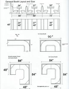 DINING BOOTHS LAYOUTS