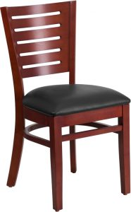 slat mah wood chair black vinyl seat 99 186x300 - Chairs