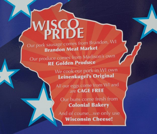 Wisconsin Pride- knowing where the food came from