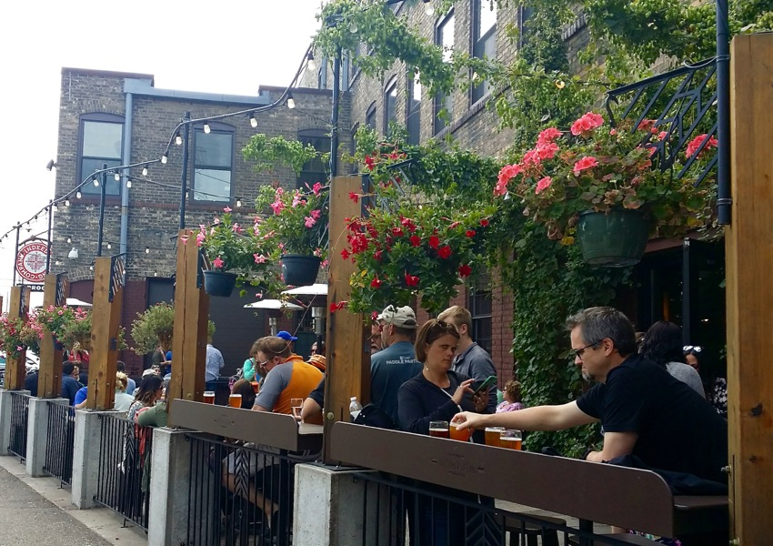 Patio at Indeed Brewing