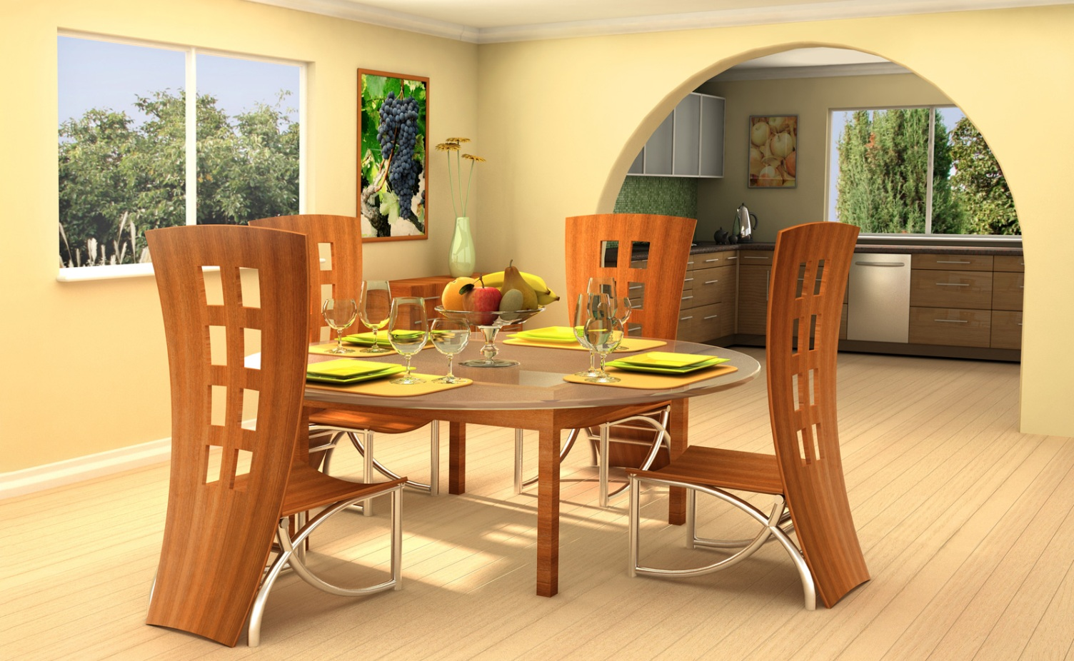 dining table and sofa in living room chair ottoman set go creative pick unique chairs