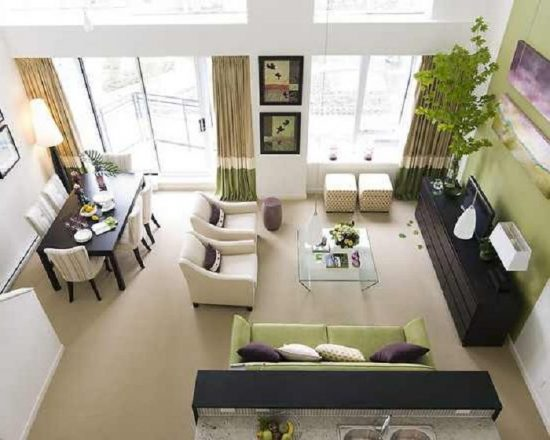 l shaped couch living room ideas best chairs l-shaped dining & decorating – think cleverly ...