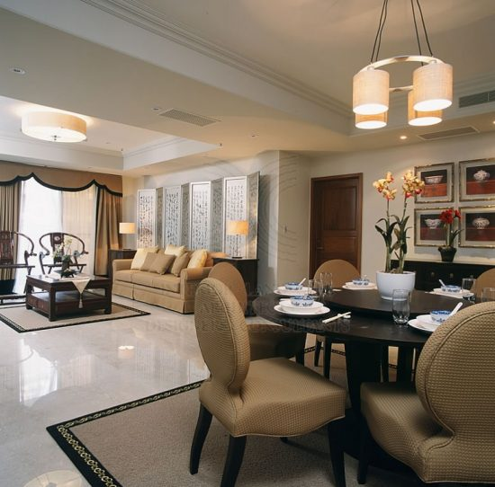 L Shaped Dining Room