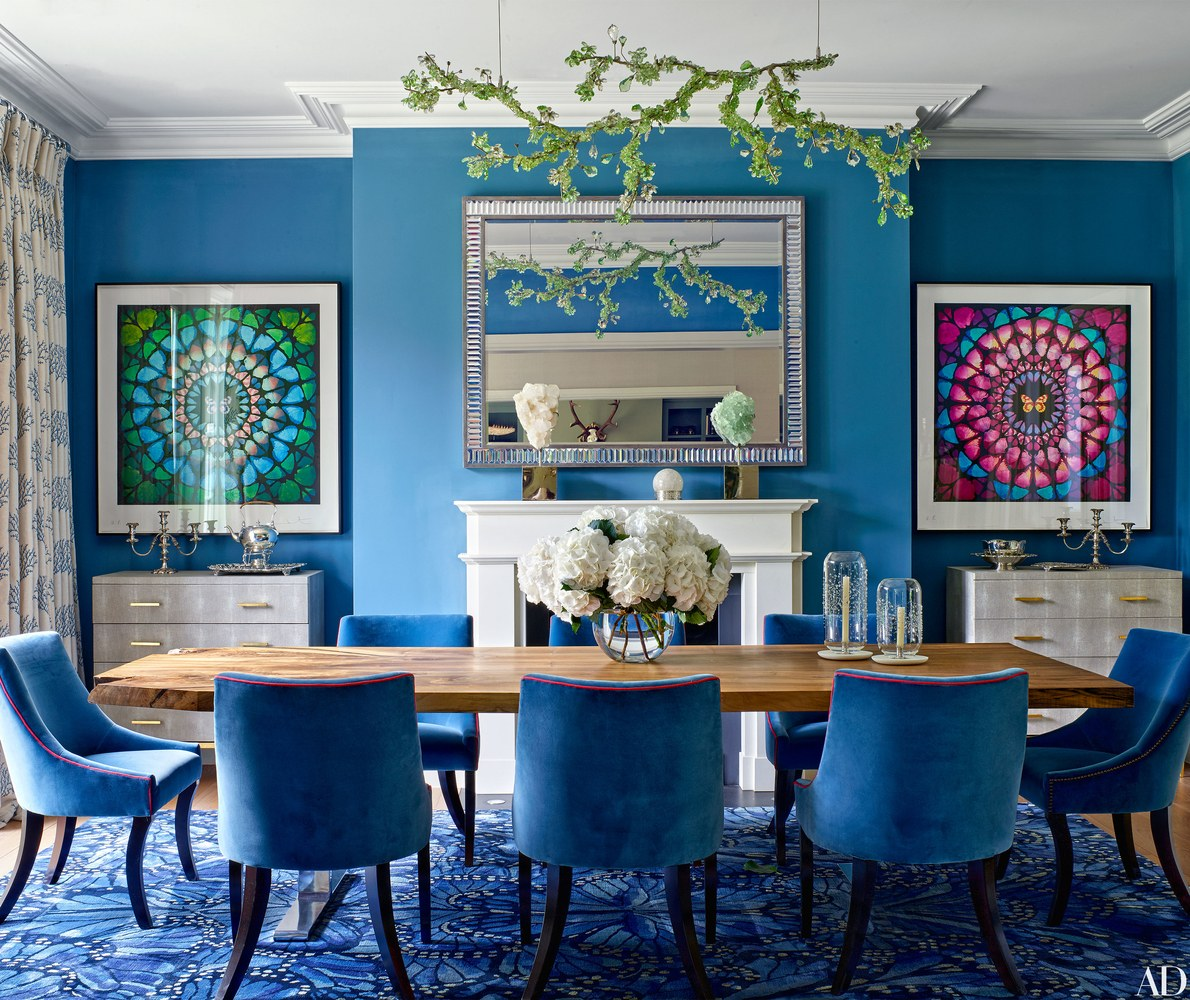 Whats Hot on Pinterest: Keep Calm with These Blue Dining