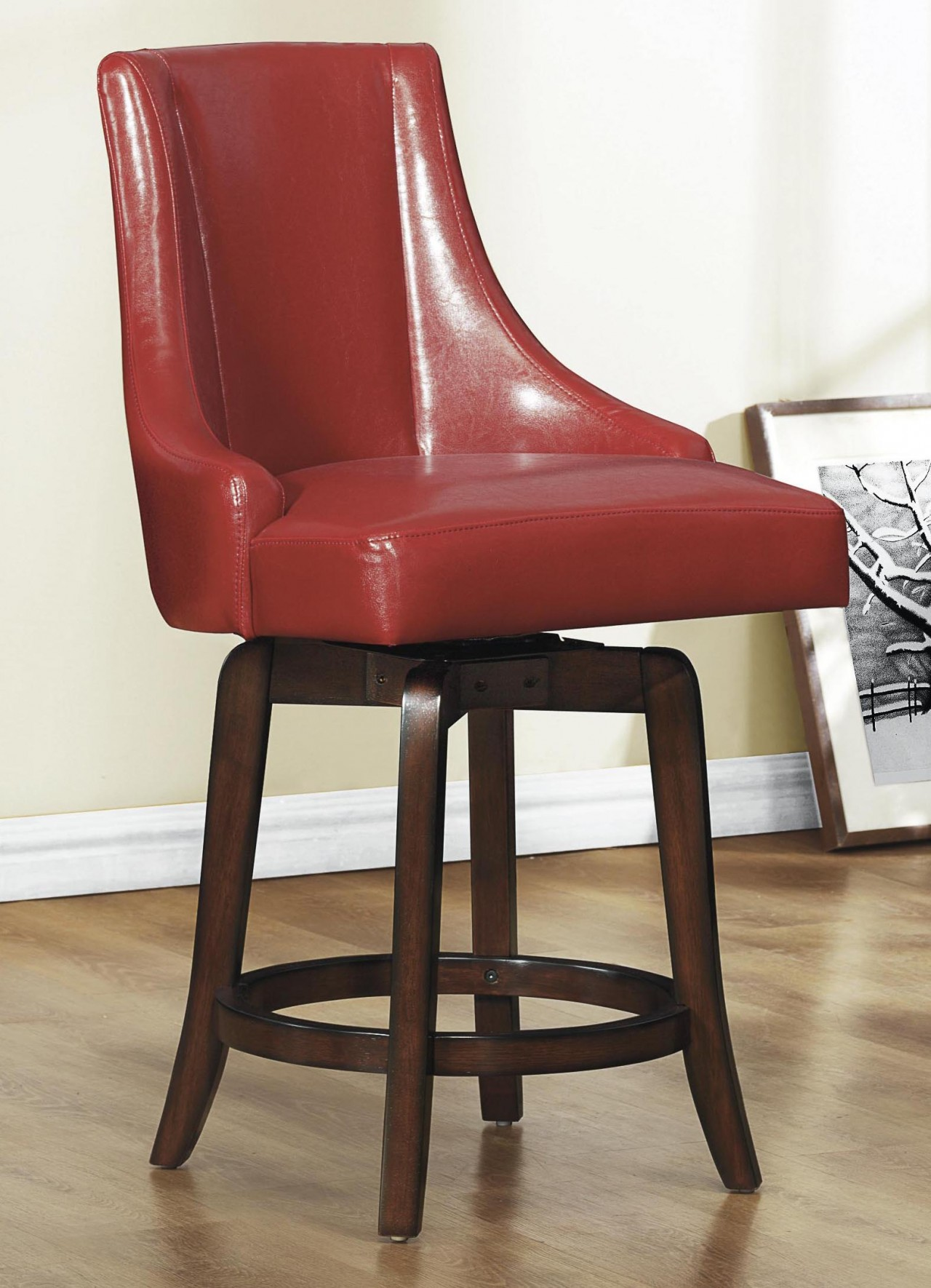 Red Counter Height Chairs Homelegance Annabelle Counter Height Chair In Red Set Of