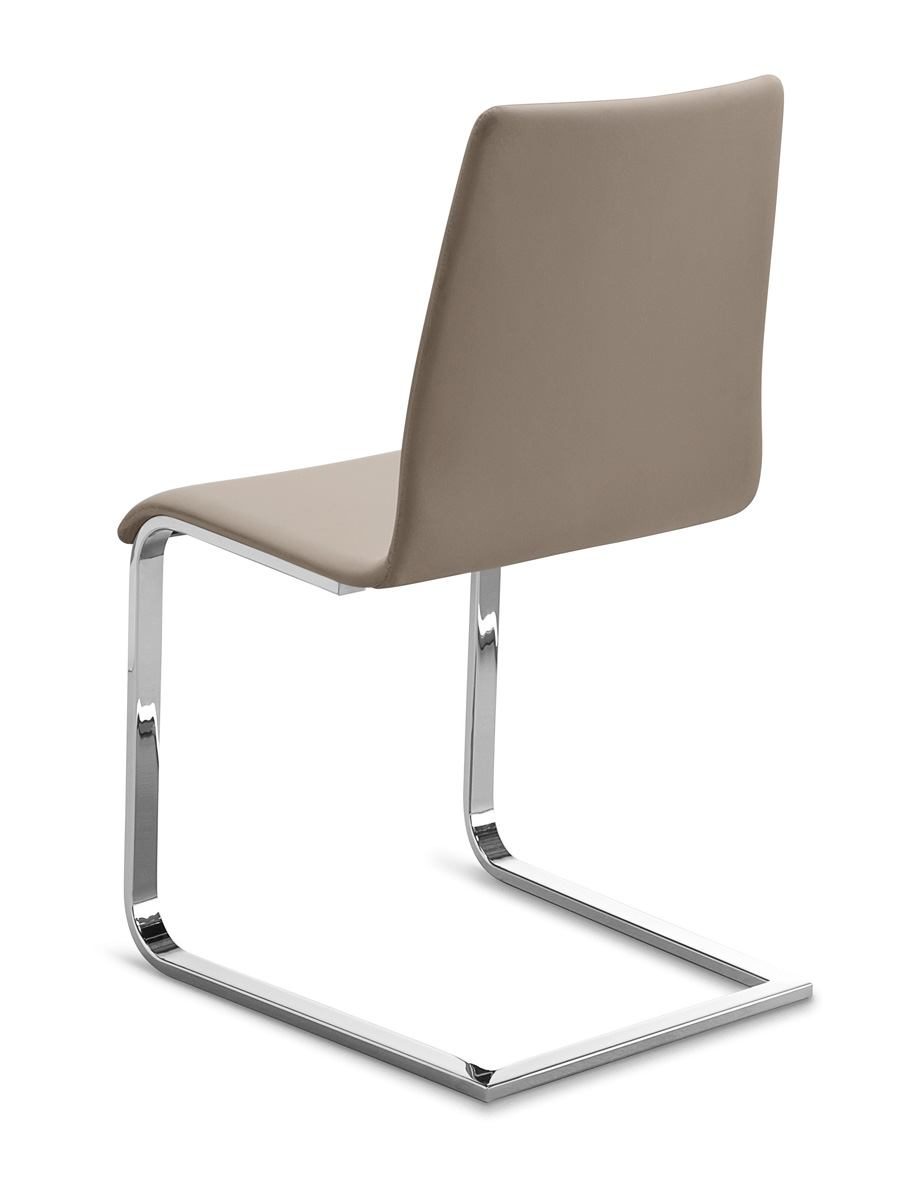 S Shaped Chair Domitalia Jude Sp Chair In Taupe And Chrome Jude S 00f Cr 7ji Set Of 2