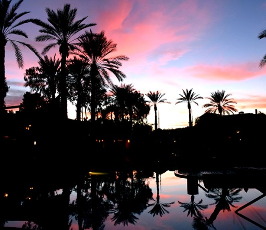 Arizona Biltmore Hotel Pool Sunset