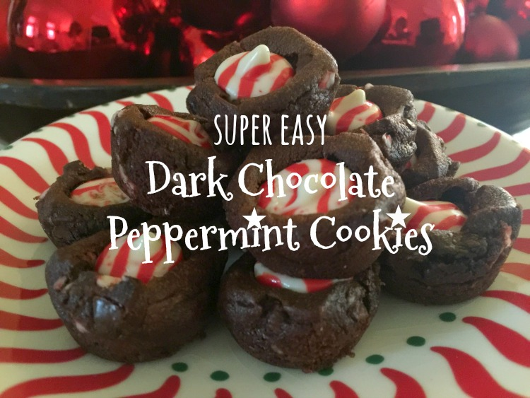 Super Easy Dark Chocolate Peppermint Cookies