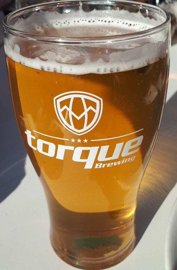 Tour Time Helles Lager a great beer to enjoy as you dine on the patio.