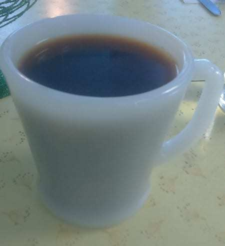 Coffee to go with the breakfast.
