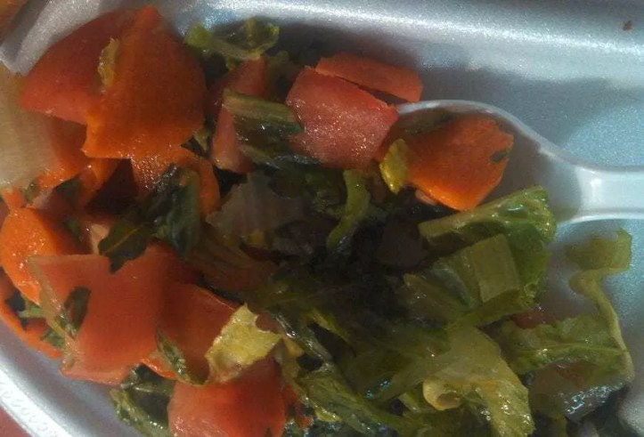 Sudanese carrot and lettuce salad.
