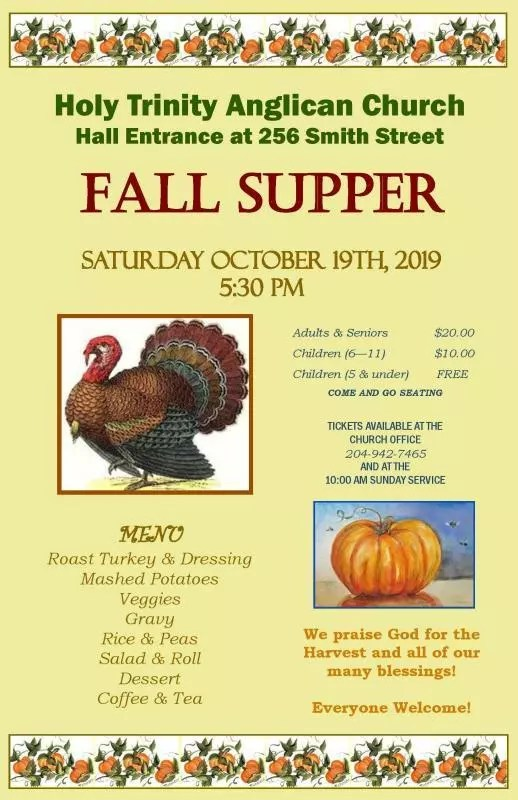Fall Supper poster